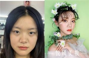 """2019年9月郑州悦风美妆学院""""素秋杯""""新娘妆作品评选"""